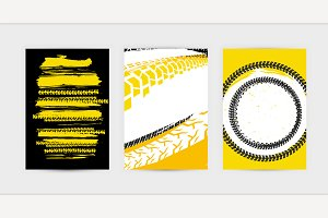Grunge Tire Posters Set 17-17