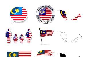 Malaysia infographics elements