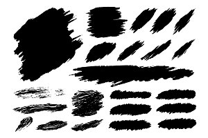 Black paint brush stroke