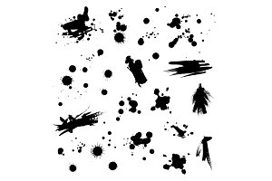 Set of Vector Ink Stains