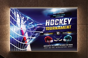 Hockey Flyer Template