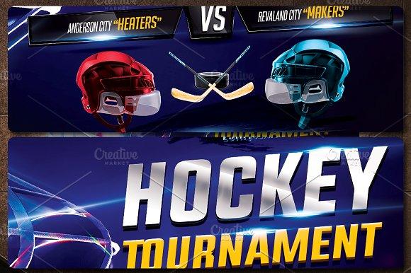 Hockey Flyer Template Flyer Templates Creative Market
