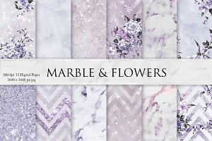 Marble, Glitters, Flowers & Textures