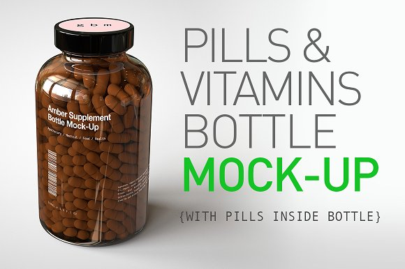 Download Pill Bottle | Vitamin Bottle Mock-Up