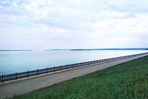 Saratov Volga river embankment photo
