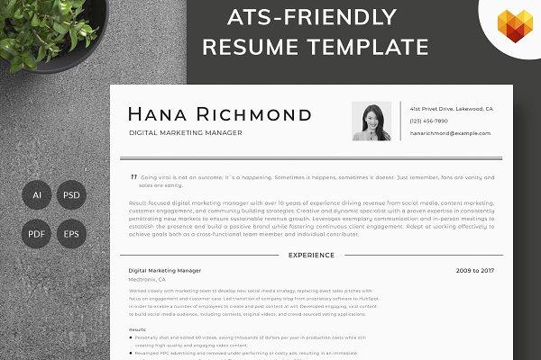 Digital Marketing Manager Resume Creative Photoshop Templates