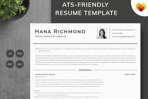 digital marketing manager resume resume templates creative market