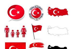 Turkey infographics elements
