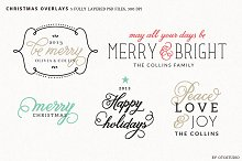 Digital Christmas Overlays - Set 2