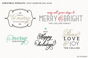 Digital Christmas Overlays - Set 2