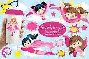 Supergirls Clipart, AMB-1034