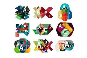 Set of paper geometric option