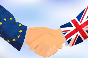 United Kingdom and Europe hands