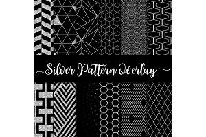 Silver Glitter Pattern Overlay