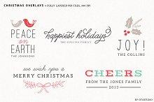 Digital Christmas Overlays - Set 1