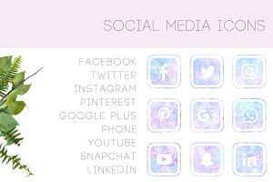 GALAXY SOCIAL MEDIA ICONS