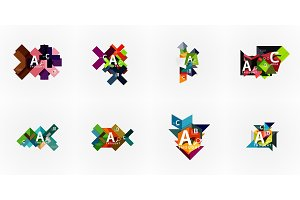 Set of geometric design abstract
