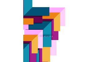 Multicolored abstract geometric