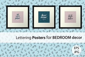 Lettering for Bedroom Decor