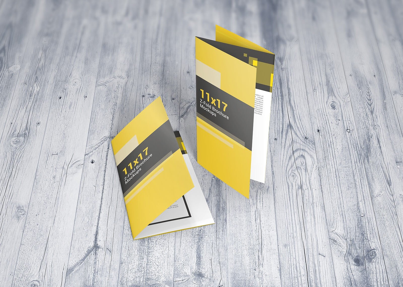 1117 z fold brochure mockups product mockups creative market