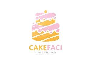 Vector cake logo combination.