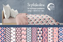 Pink Geometric Papers AMB-1079