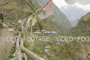 Nepalese village between the