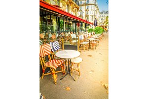 Monmartre cafe, Paris, France