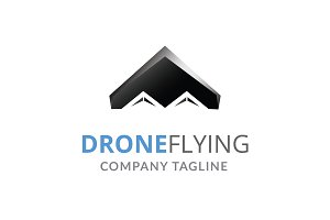 Drone Flying Logo