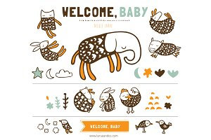 Welcome Baby (Clipart)