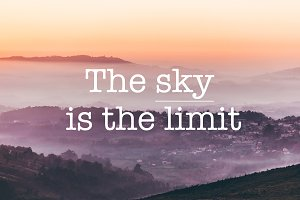 The sky is the limit, foggy mountain