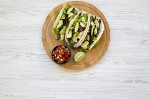Corn tortillas with grilled beef