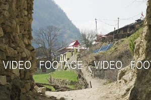 Arch to nepalese village Lho