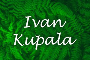 Russian holiday of Ivan Kupala. Beau
