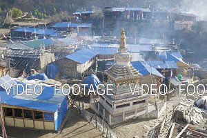Morning in Nepalese village Lho