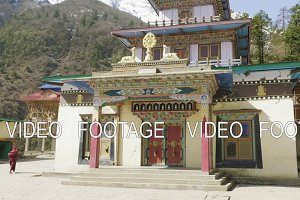 Monastery in the village Lho, Nepal.