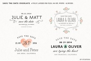 Save the Date Overlays - Set 1
