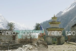 Entrance Nepalese village Lho