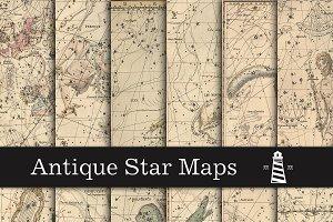 Vintage Star Maps Digital Paper