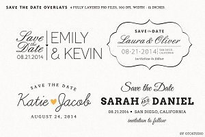 Save the Date Overlays - Set 2
