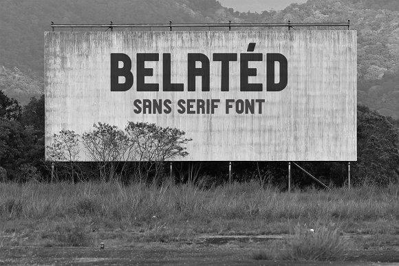 Belatéd Sans Serif Display Typeface