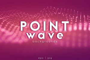 12 Point Wave Backgrounds Set#01