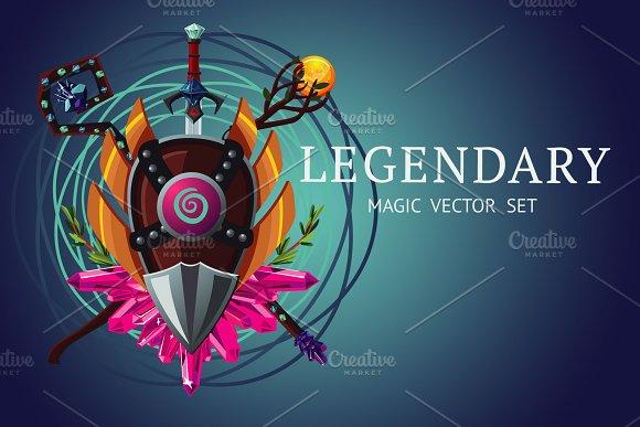 Legendary Magic Set in Illustrations