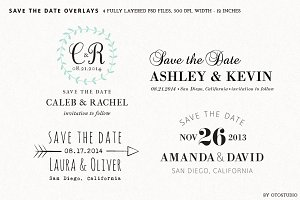 Save the Date Overlays - Set 3