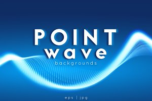 11 Point Wave Backgrounds Set#02