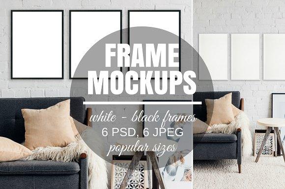 Free Picture Frame Set Of 3 Mockups