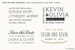 Save the Date Overlays - Set 4
