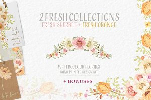 FRESH Watercolour Florals Collection