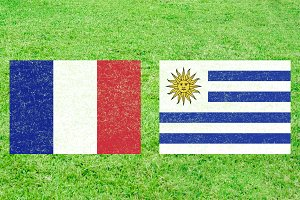 France vs Uruguay Sports Background