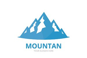 Vector mountain logo combination.